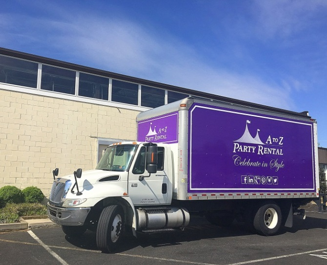A to Z Party Rental Truck