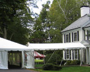 marquee tent to house