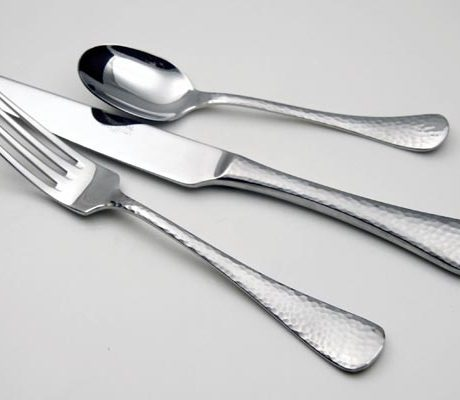 hammered flatware pattern