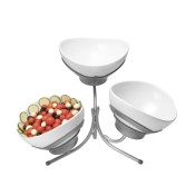 3 tier Tulip bowl with Stand