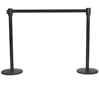 black-stanchion-retract rental
