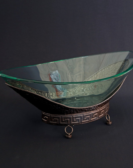 canoe glass bowl