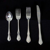 chateau silver rental flatware