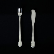 Chateau cocktail fork and butter knife