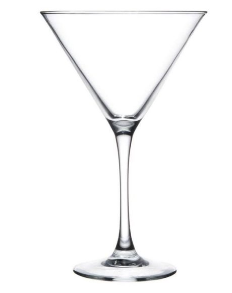 Martini 10oz libby glass rental