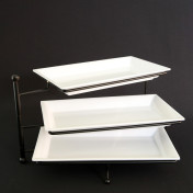 3 tier adjustable tray stand