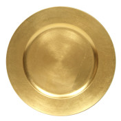 charger gold acrylic rental plate