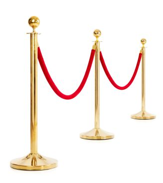 stanchion brass rental