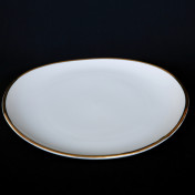 oval 11in dinner rental plate