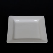 white square 7in dessert plate rental