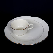 homer laughlin snack plate with cup