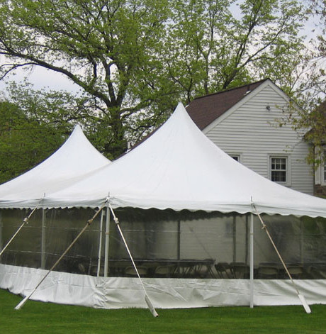 Professionally installed 20 x 40 pole tent