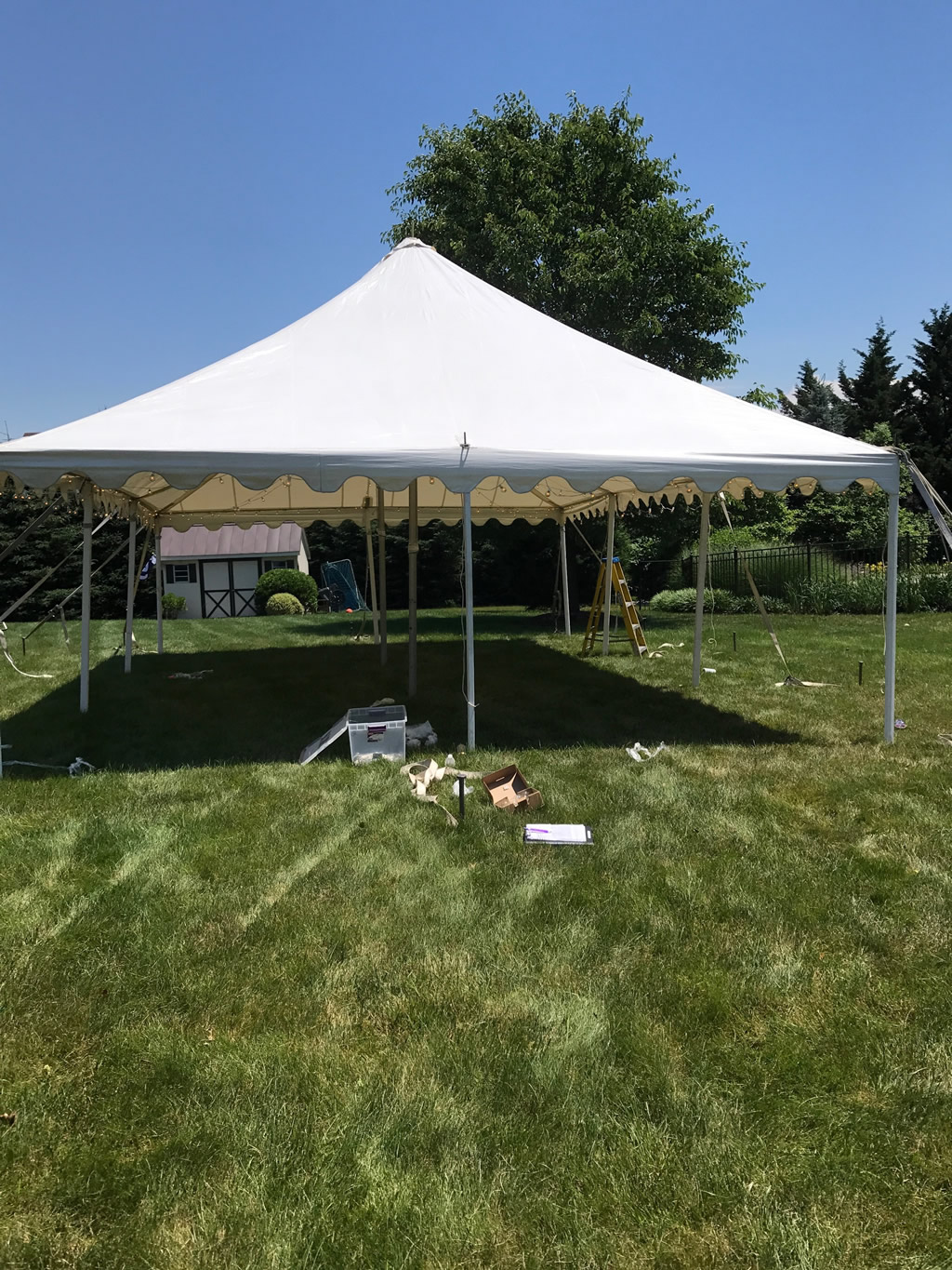 A To Z Party Rental 20 Wide Pole Tents