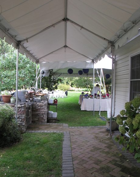 walkway wedding tent
