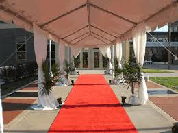 marquee tent red carpet