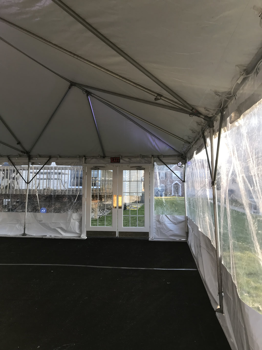 A To Z Party Rental Tent Doors