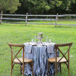 outdoor table setup rental furniture