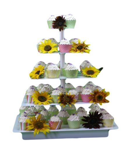 cup cake stand square white