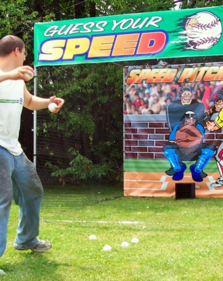 speed pitch baseball game rental