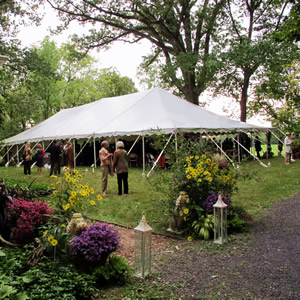wissahickon valley watershed green ribbon gala 40x80 pole tent