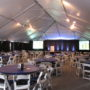 Janssen corporate product release meeting rental tent 50x frame tent