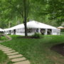 backyard wedding 50x frame tent rental