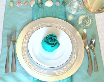 mermaid beach theme aqua setting