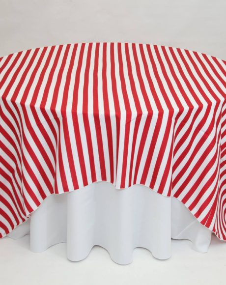 Awning Stripe Red linen