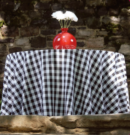 Black Check table linen