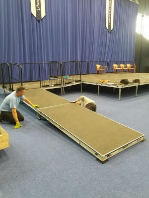 ADA ramp for stage rental