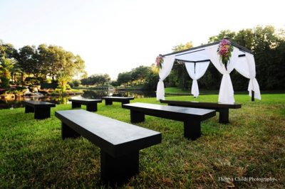 Hayden benches at Wedding