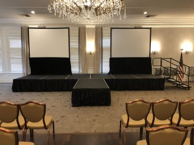 temporary stage and projectors rental