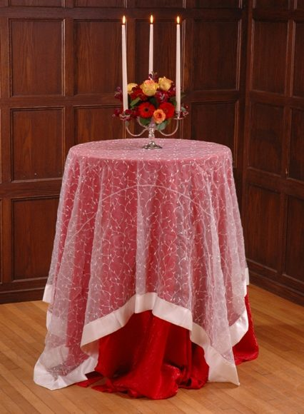 Ivory Vine Organza Table