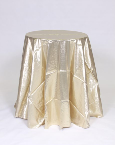 Lame gold linen rental