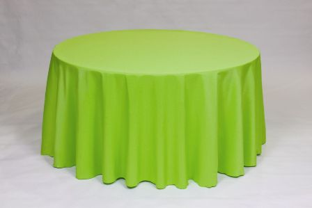 Lime Poly solid linen rental