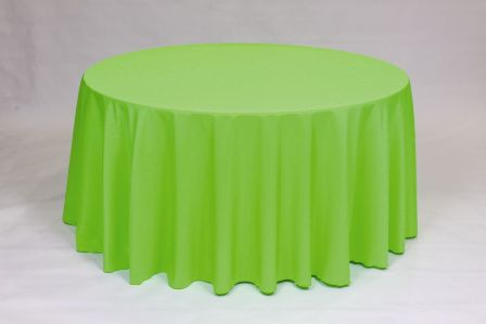 Solid Neon Green Poly Linen