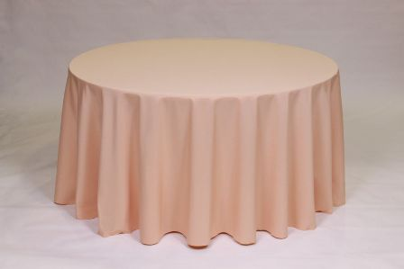 Solid Peach Poly linen