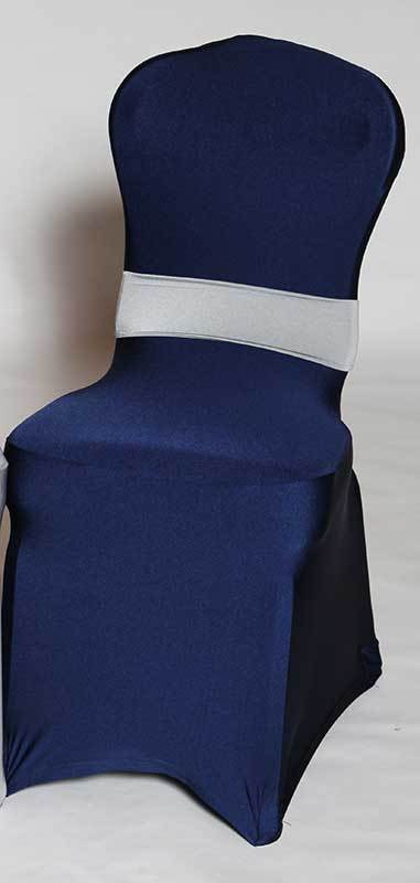 A To Z Party Rental Spandex Navy Blue Chair Cover