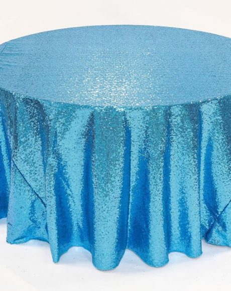 turquoise glimmer sequin linen rental