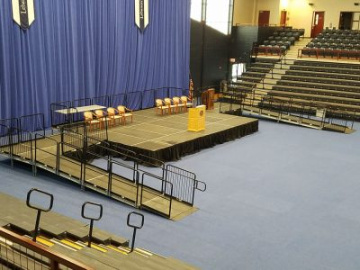 graduation stage with ADA ramp