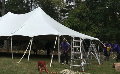 tent installation pole