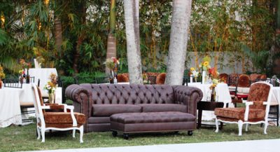 winston sofa and elan chair furniture rental