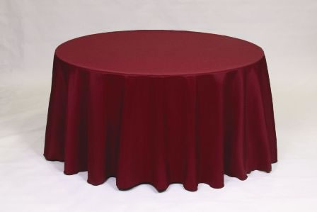 Burgundy Poly solid linen