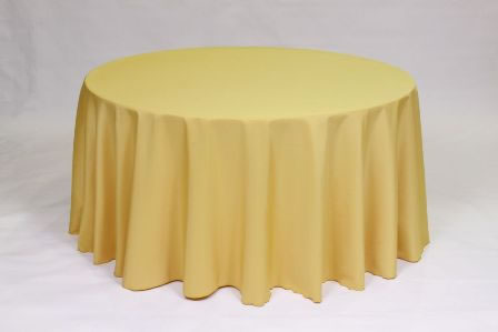 Gold Poly solid linen