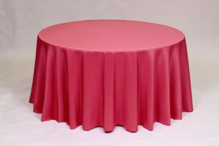 Hot Pink Poly solid linen