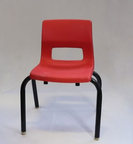 red kids child chair