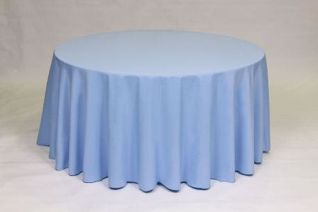 Light Blue Poly linen solid