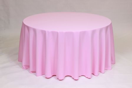 Light Pink Poly solid linen