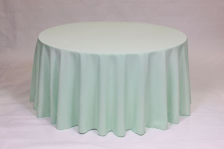 Mint Poly solid linen