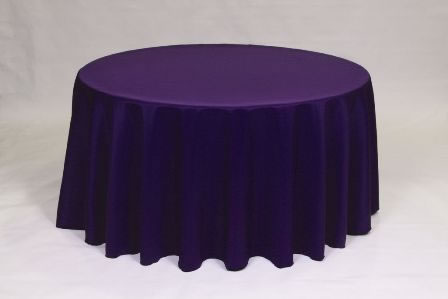 Purple Poly solid linen